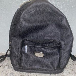 COPY - Micheal Kors leather black backpack